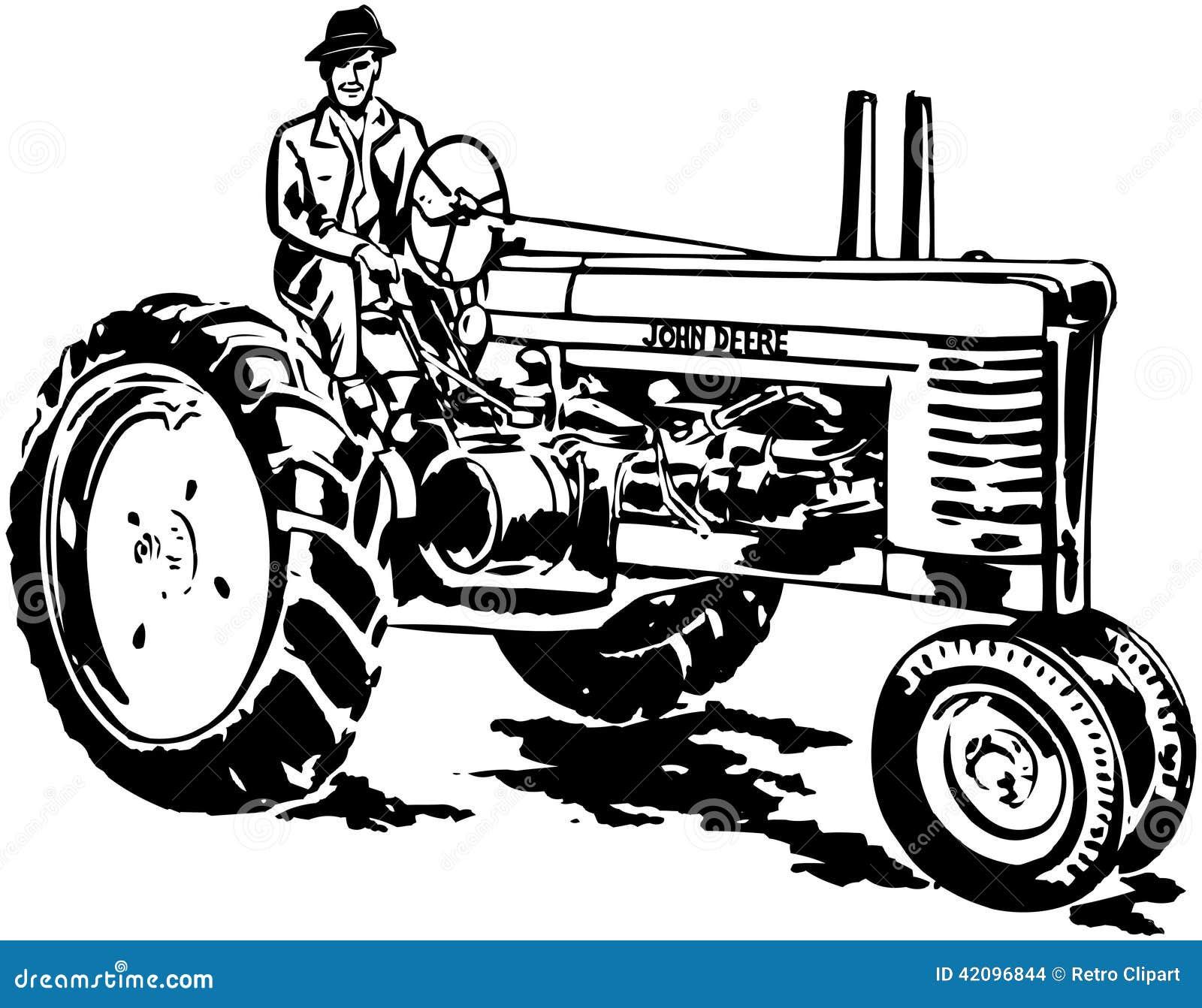 Vintage Tractor Clip Art Royalty-Free Illustration ...