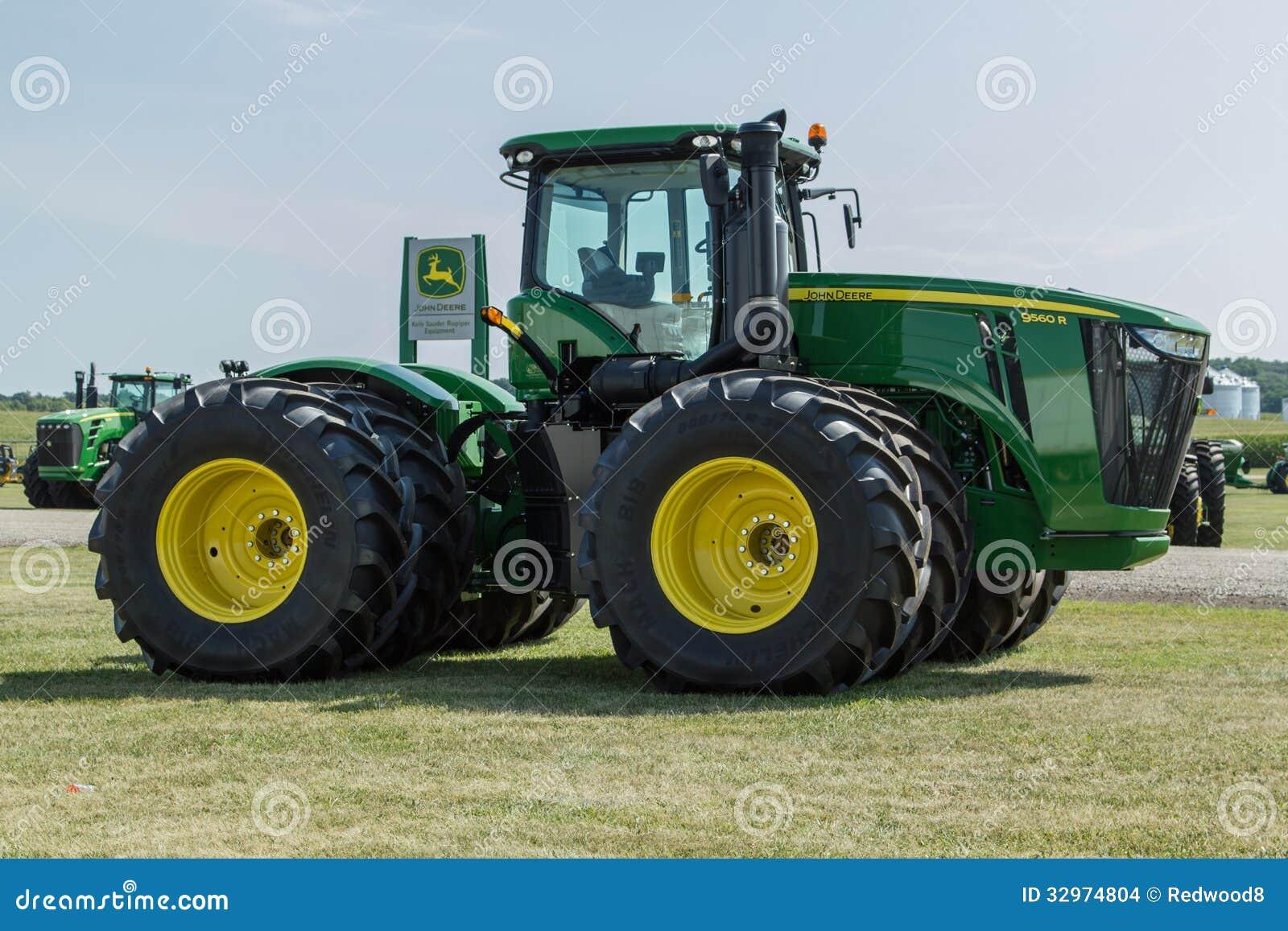 4 Wheel Drive Farm Tractors : John deere wheel drive tractor editorial stock image
