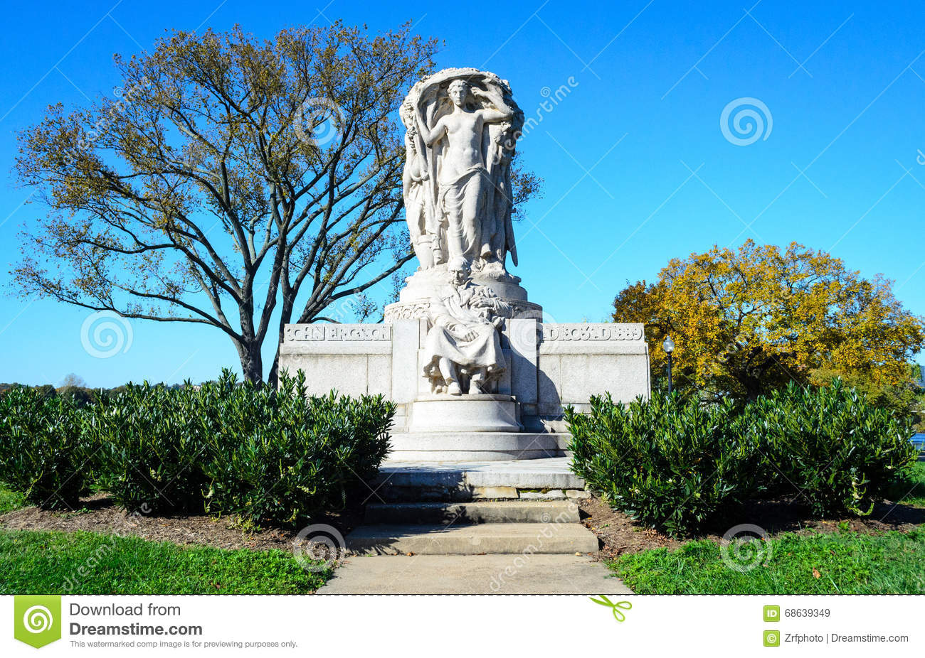 Download John Ericsson National Memorial Stock Image - Image of washington, park: 68639349