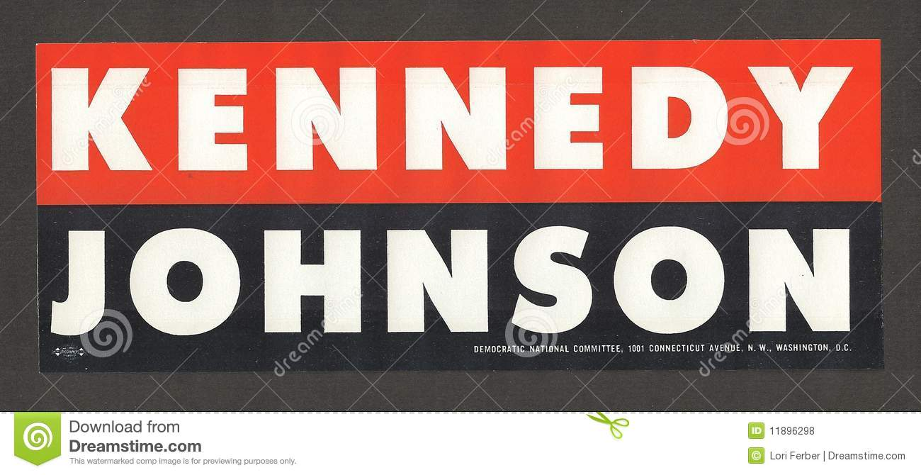 Official and authentic bumper sticker from the 1960 presidential campaign of john f kennedy