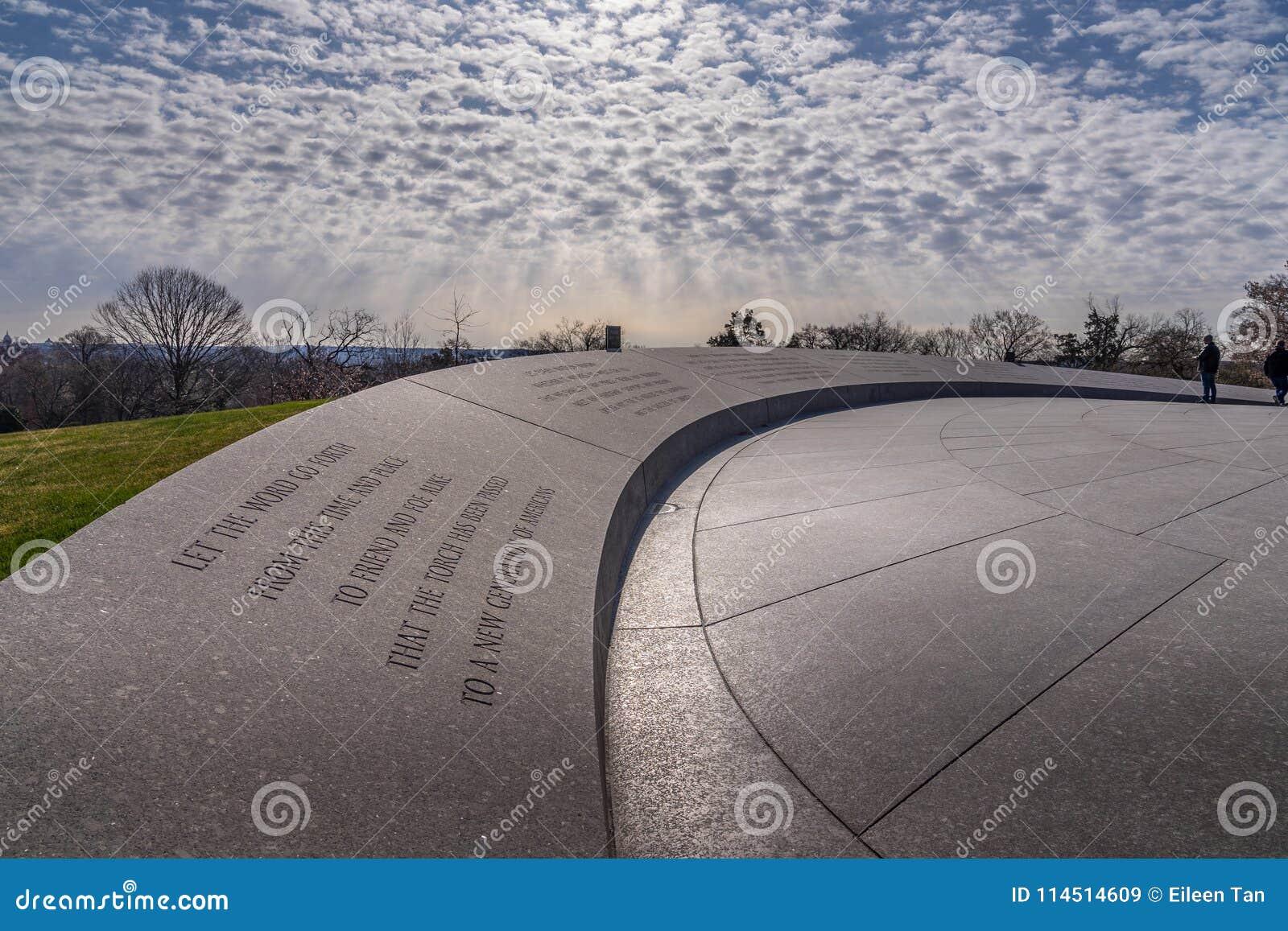 John F Kennedy Memorial in de Nationale Begraafplaats van Arlinton,