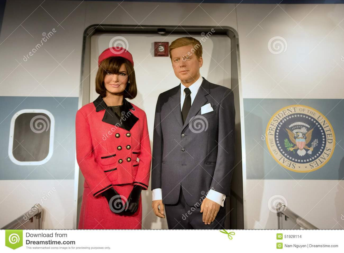 e8277e76de7 John F. Kennedy Wax Figure editorial stock image. Image of united ...