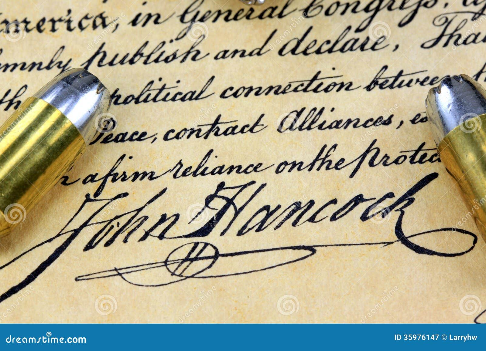 john hancock s signature ammunition on us constitution english bill of rights clipart First Amendment Clip Art