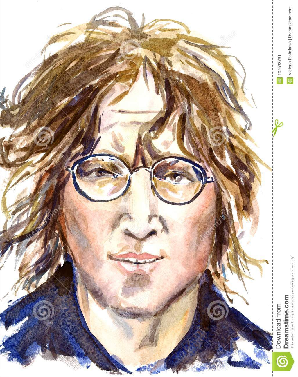 Download John Lennon The Beatles Leader Face Portrait Editorial Photo
