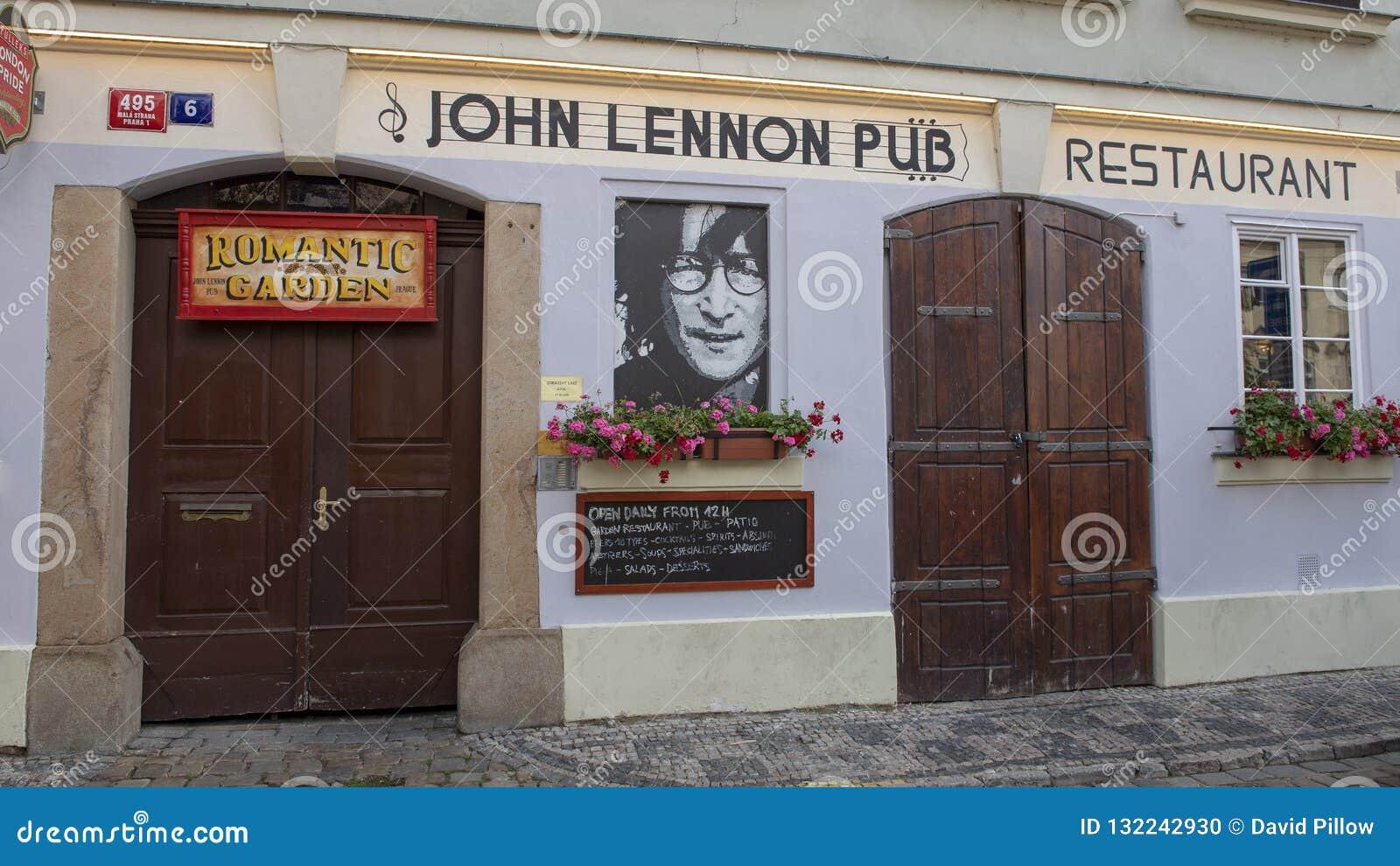 John Lennon Pub, Mala Strana in Praag, Tsjechische Republiek