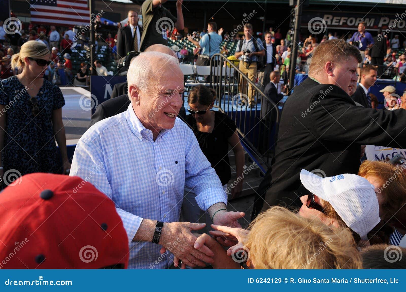 John McCain Shakes Hands