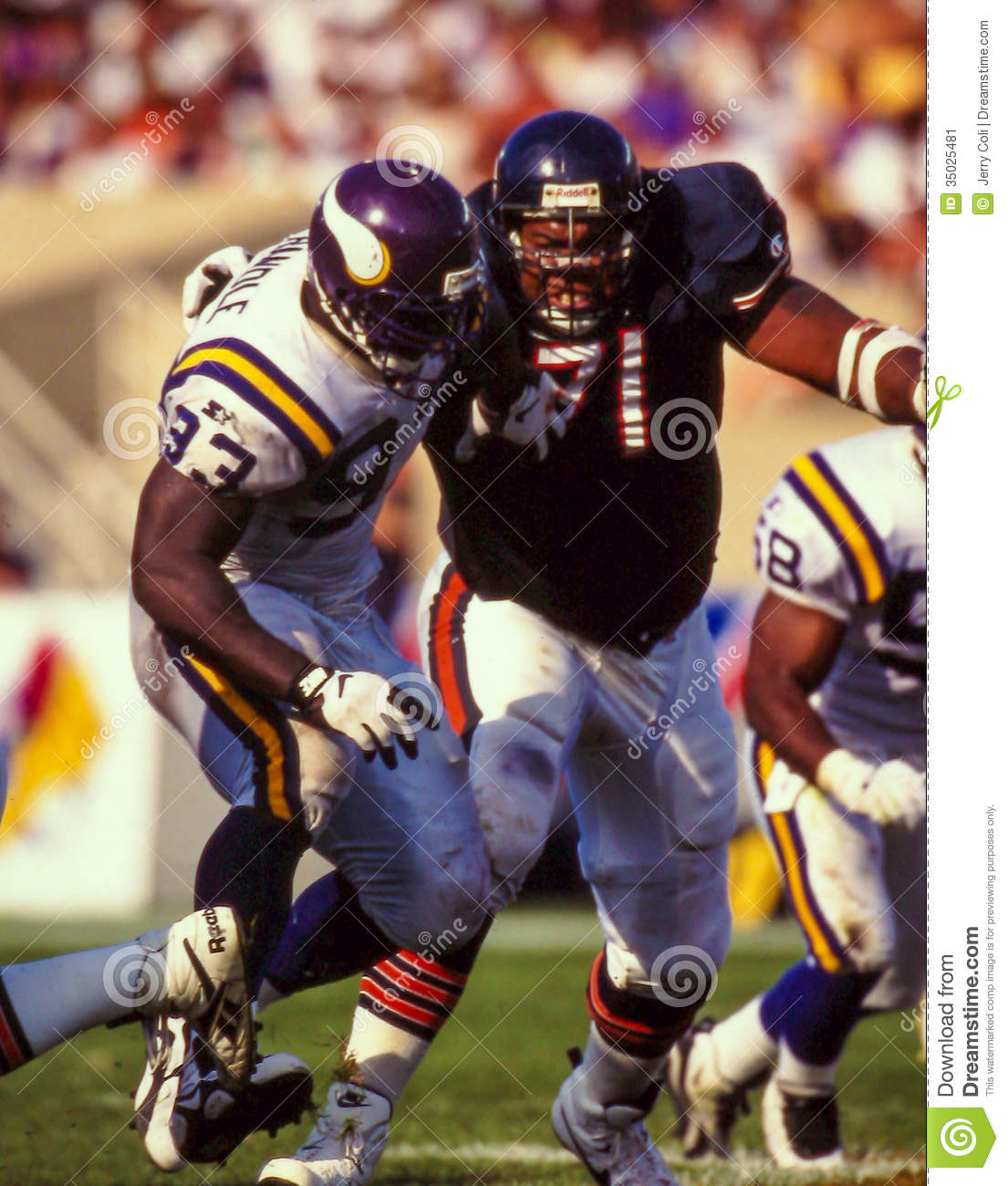 Former Minnesota Vikings Defensive linemam John Randel  93. (Image taken  from color slide). f59cfa961