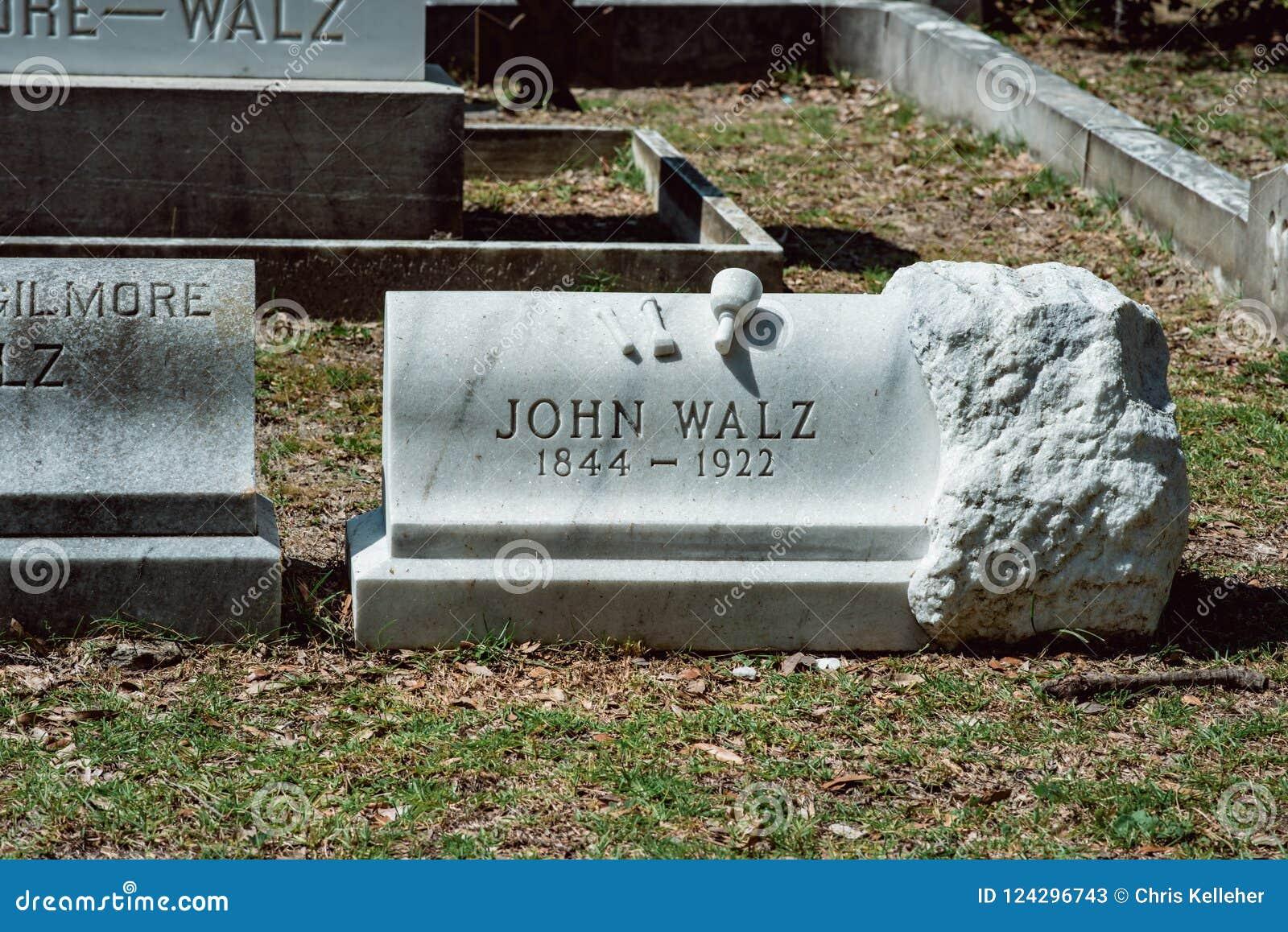 John Walz Cemetery Statuary Statue Bonaventure Cemetery Savannah Georgia