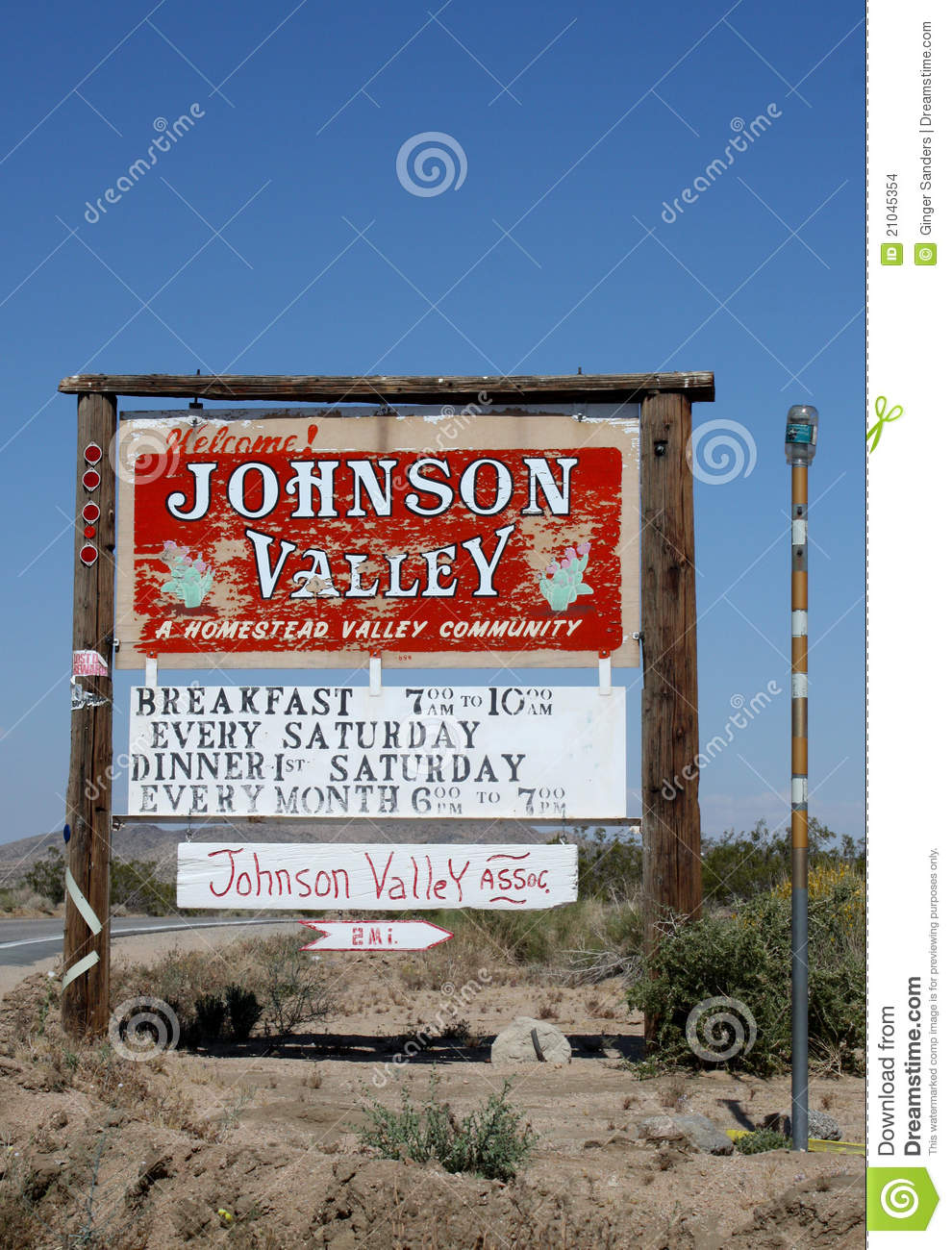Johnson Valley California Homestead Welcome Sign