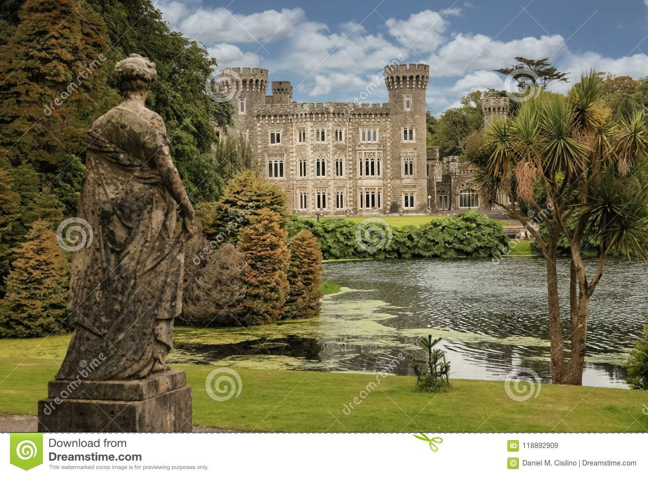 Johnstown Castle. County Wexford. Ireland. Stock Image - Image of ...