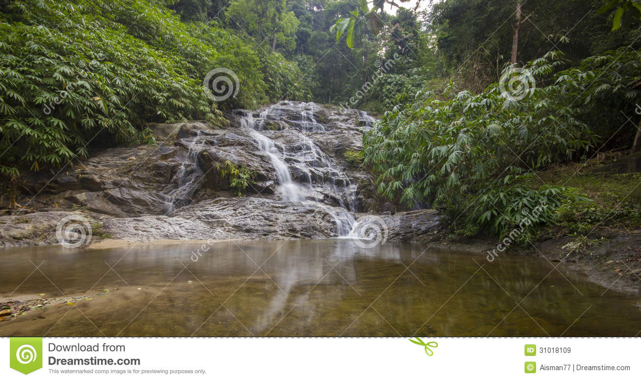Royalty Free Stock Images: Johor National Park Waterfall,Malaysia