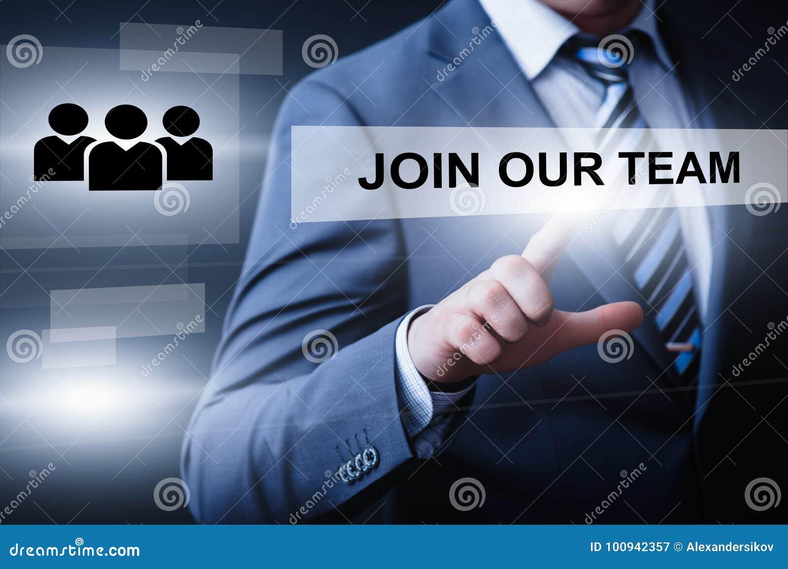 Joignez notre concept d Internet d affaires de Team Job Search Career Recruitment Hiring