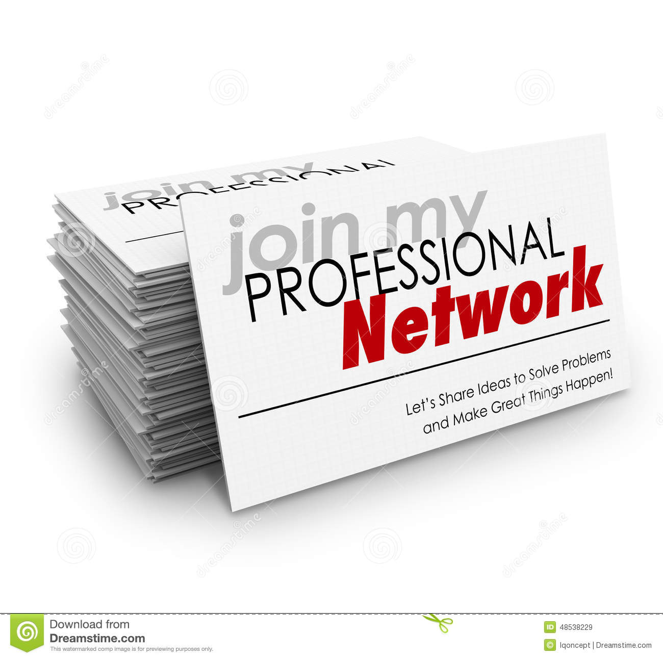 Join My Professional Network Business Cards Expand Grow