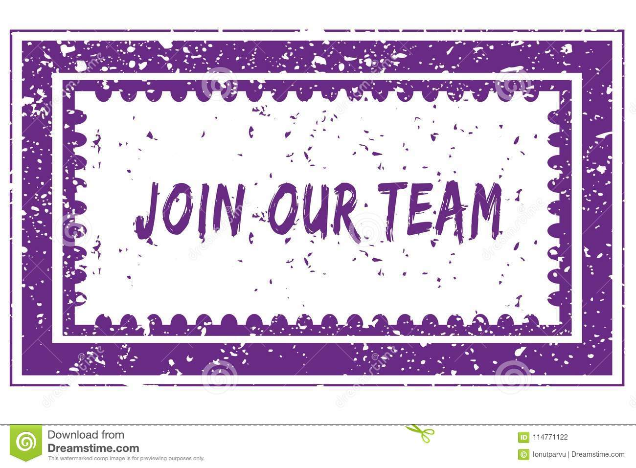 JOIN OUR TEAM In Magenta Grunge Square Frame Stamp Stock ...