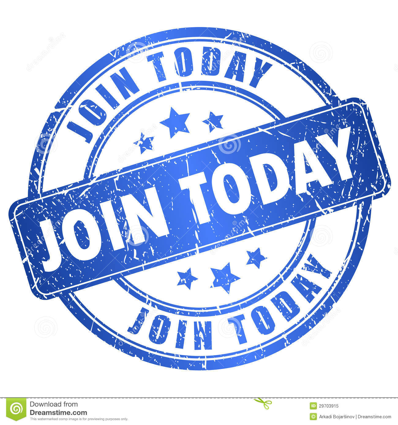 Join Today Vector Stamp Royalty Free Stock Image