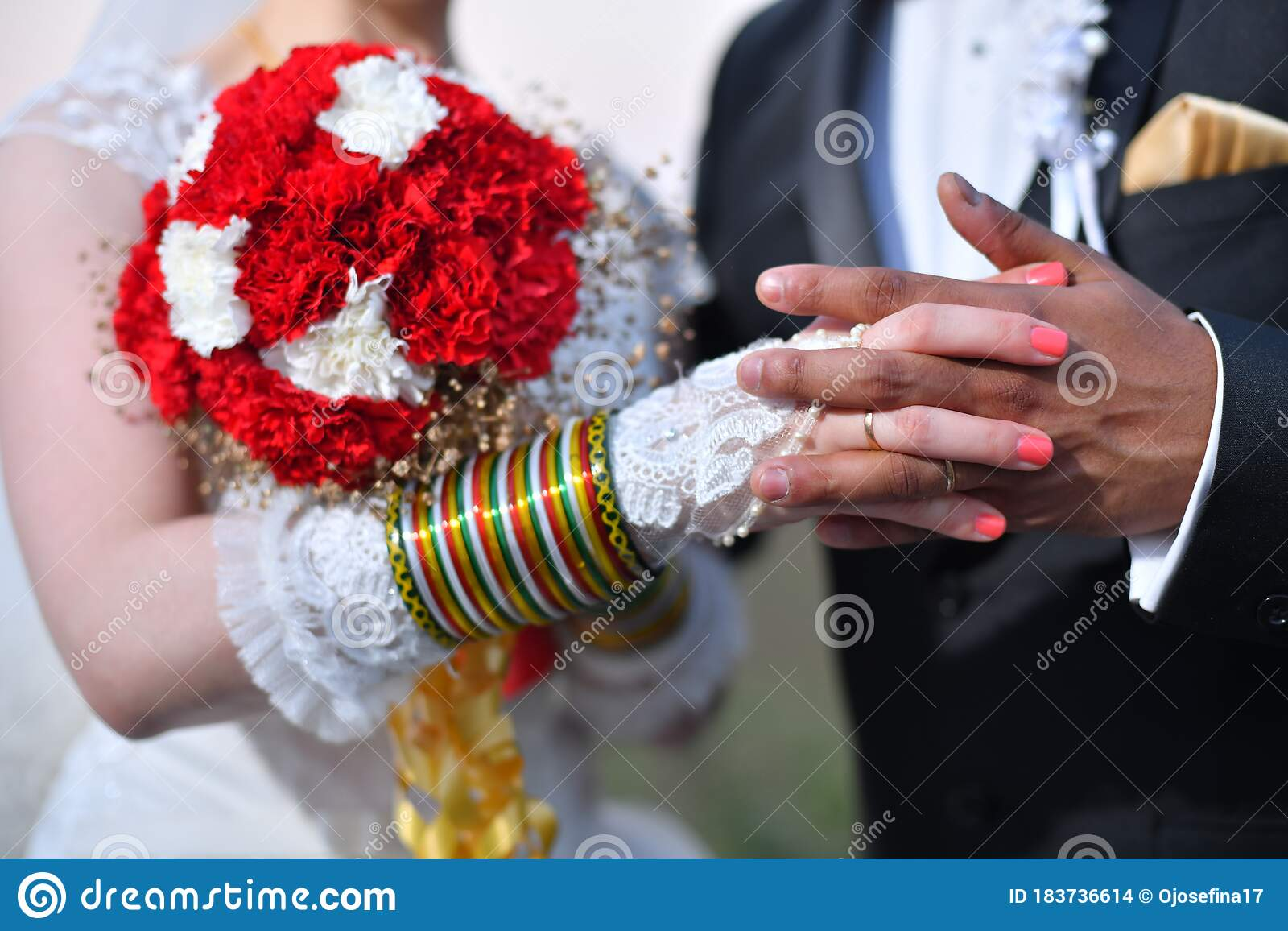https://thumbs.dreamstime.com/z/joined-hands-newly-married-couple-wedding-ceremony-international-marriage-groom-black-suit-bride-white-dress-183736614.jpg