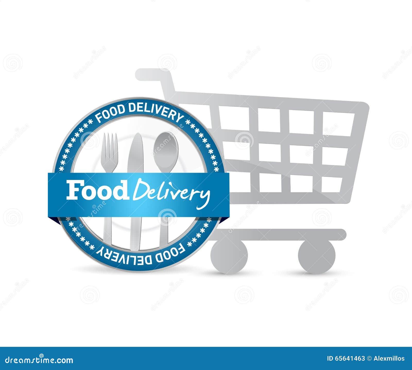 Joint de la livraison de nourriture et caddie