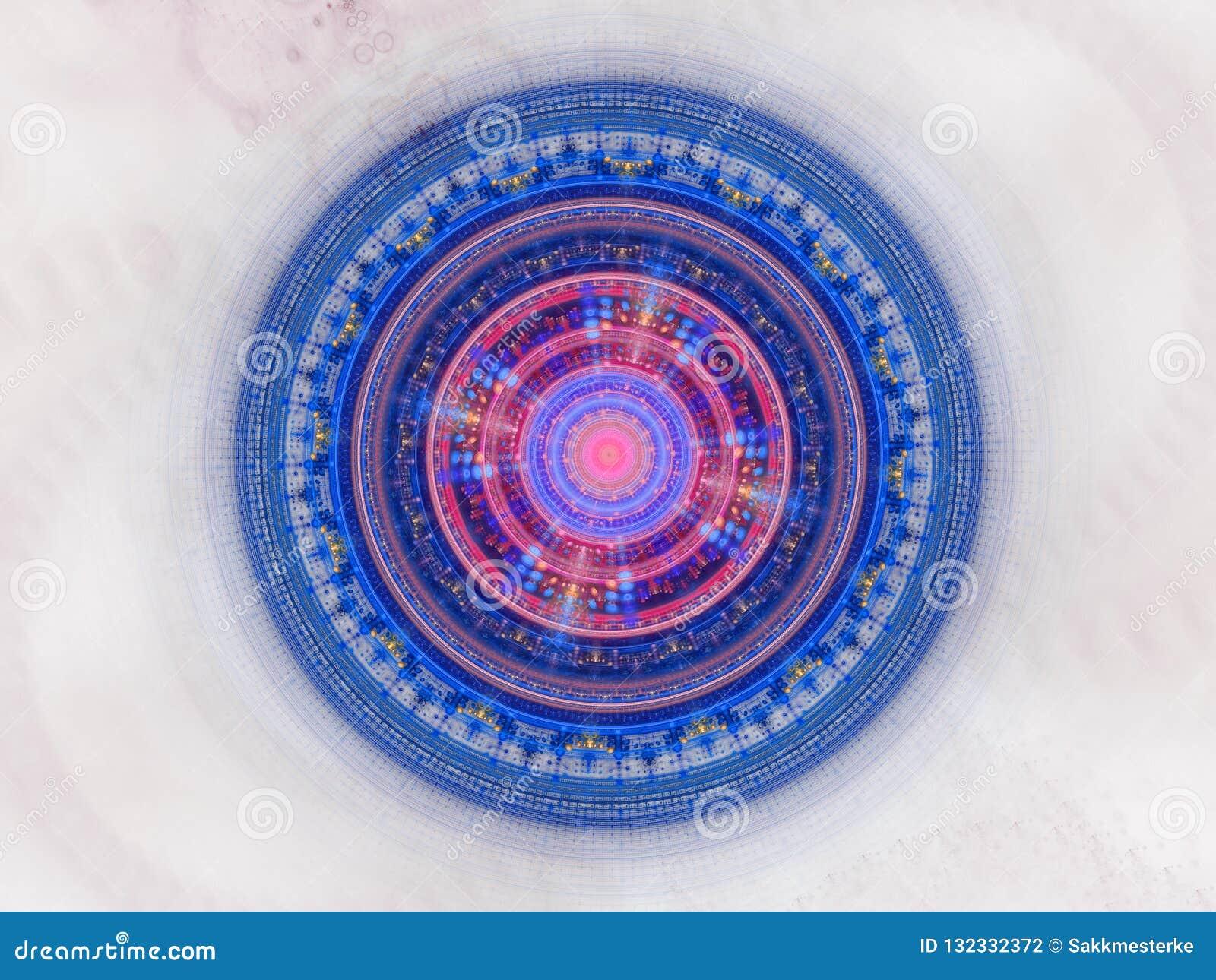 Joint galactique futuriste bleu