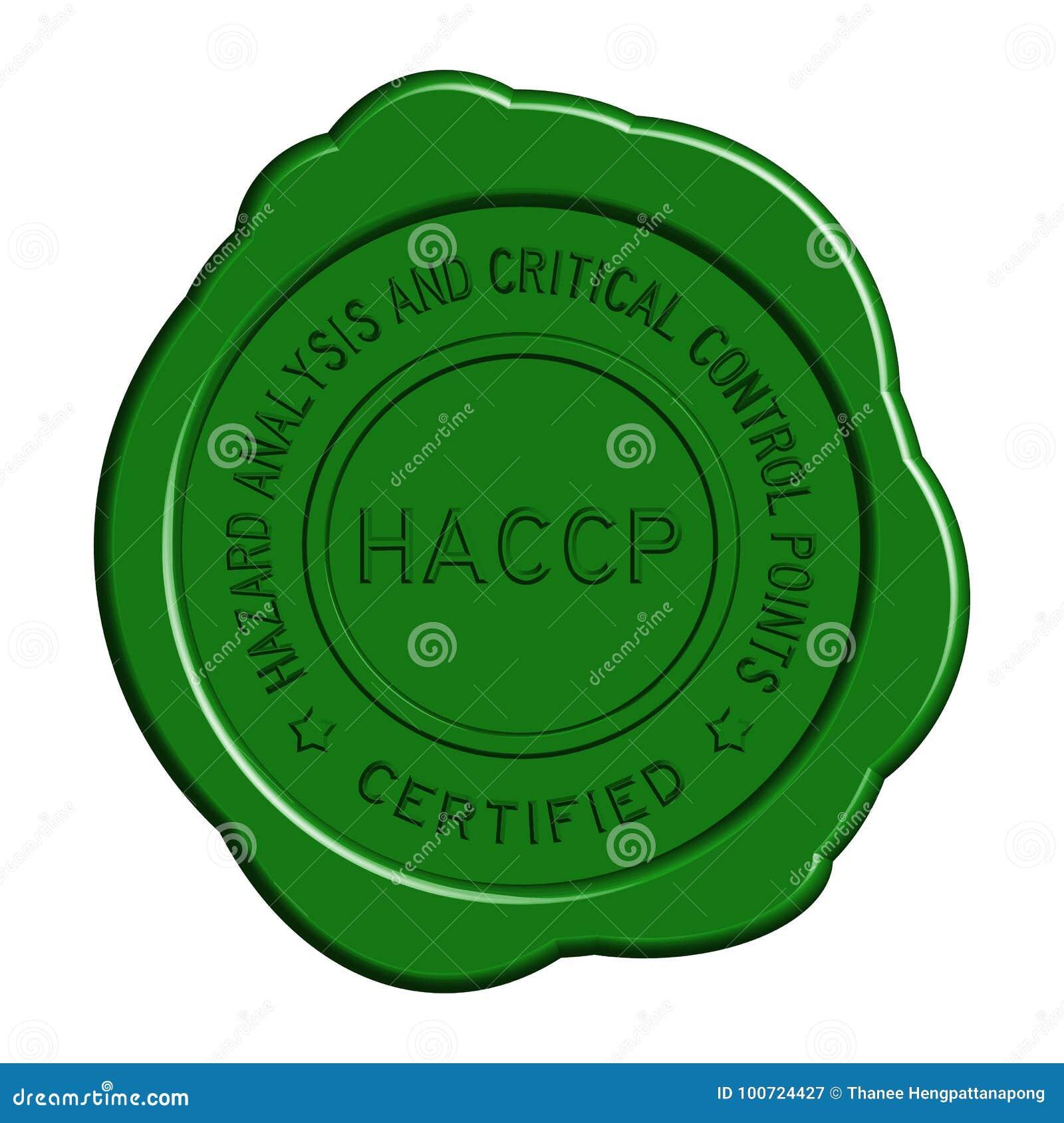 Joint rond vert de cire de HACCP sur le fond blanc