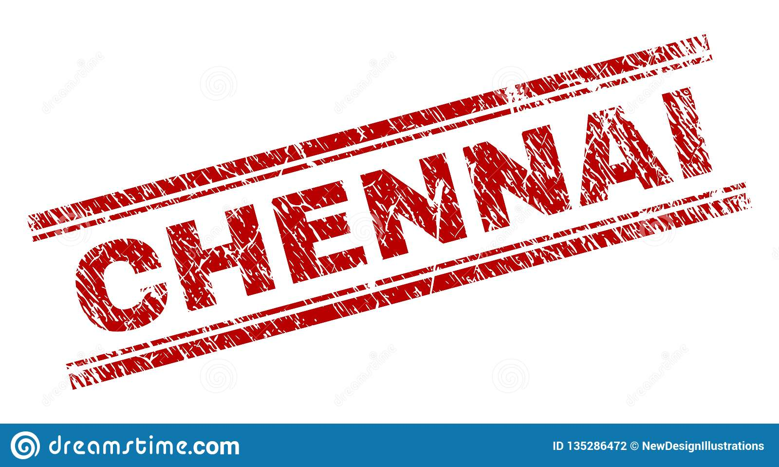 Joint texturisé grunge de timbre de CHENNAI
