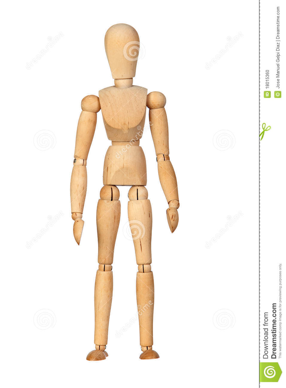 Jointed wooden mannequin