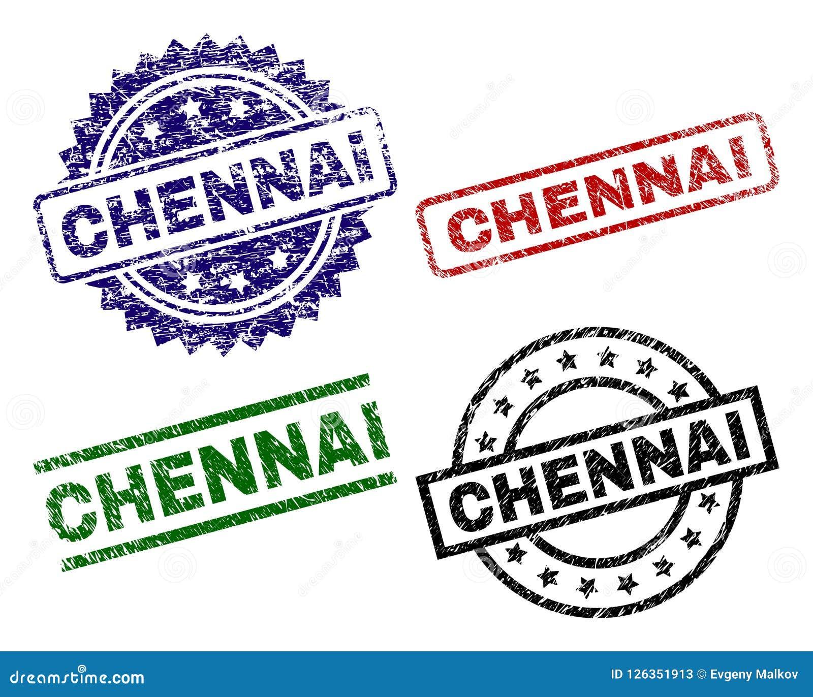 Joints texturisés endommagés de timbre de CHENNAI