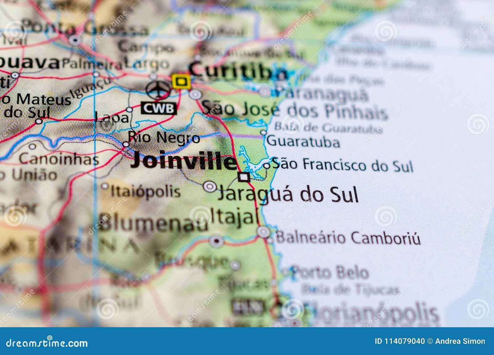 Joinville auf Karte