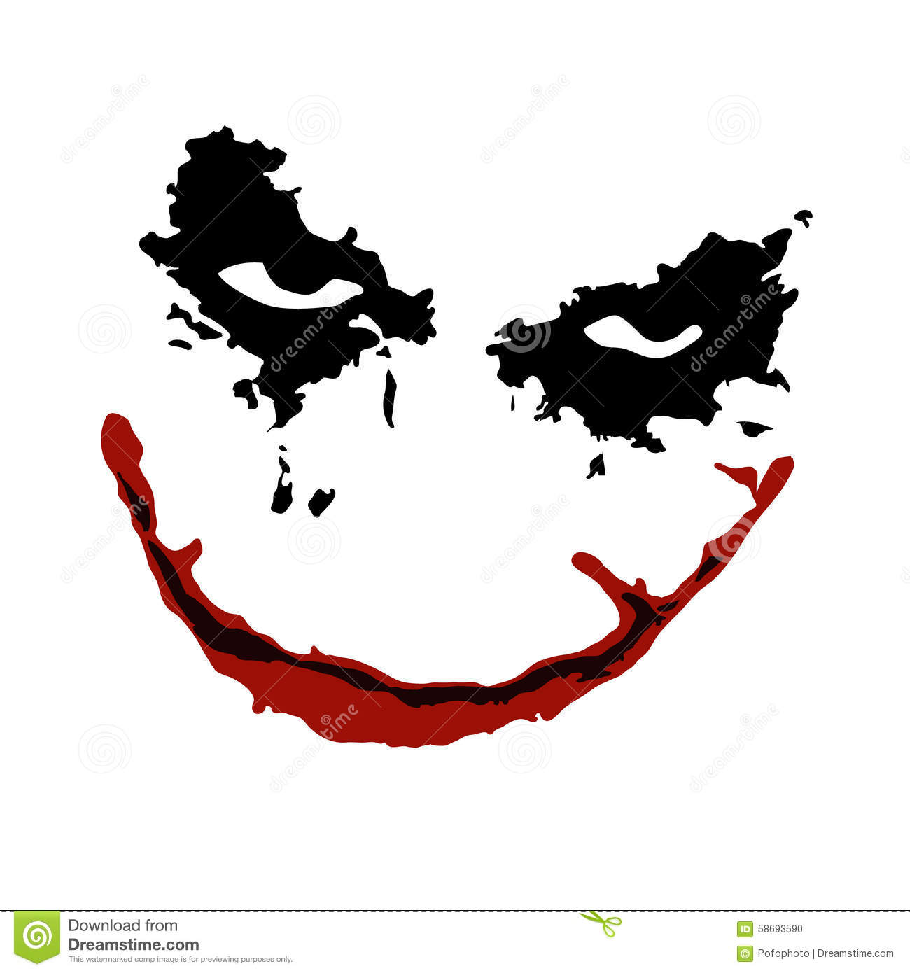 Joker Face Vector Stock Photo Image 58693590