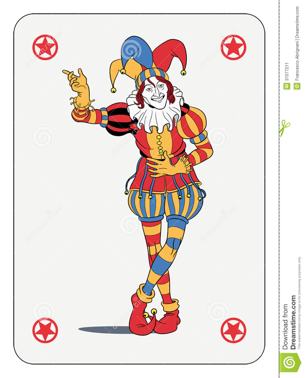 Joker Playing Card Stock Vector Illustration Of Costume