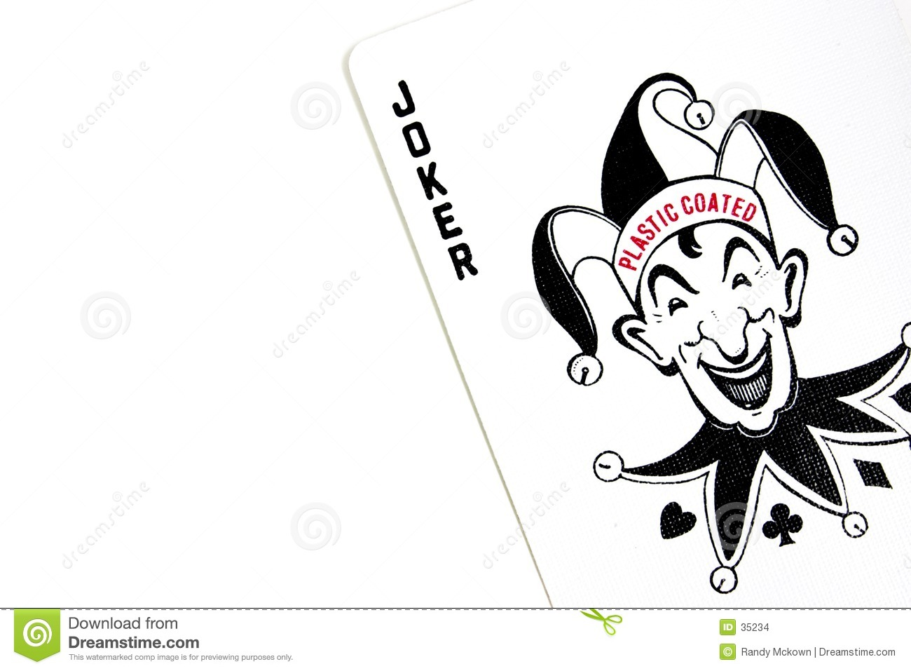 The Joker Playing Poker Cards Stock Images - Image: 35234