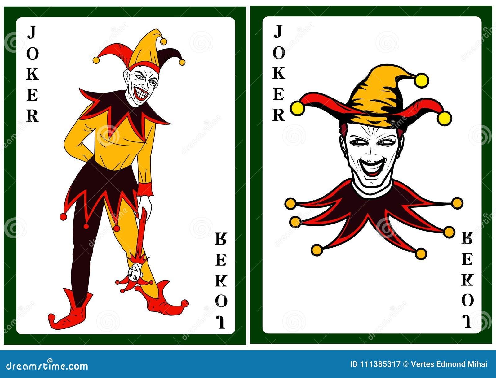Joker W Kolorowym Kostiumowym Karta Do Gry Ilustracja Wektor