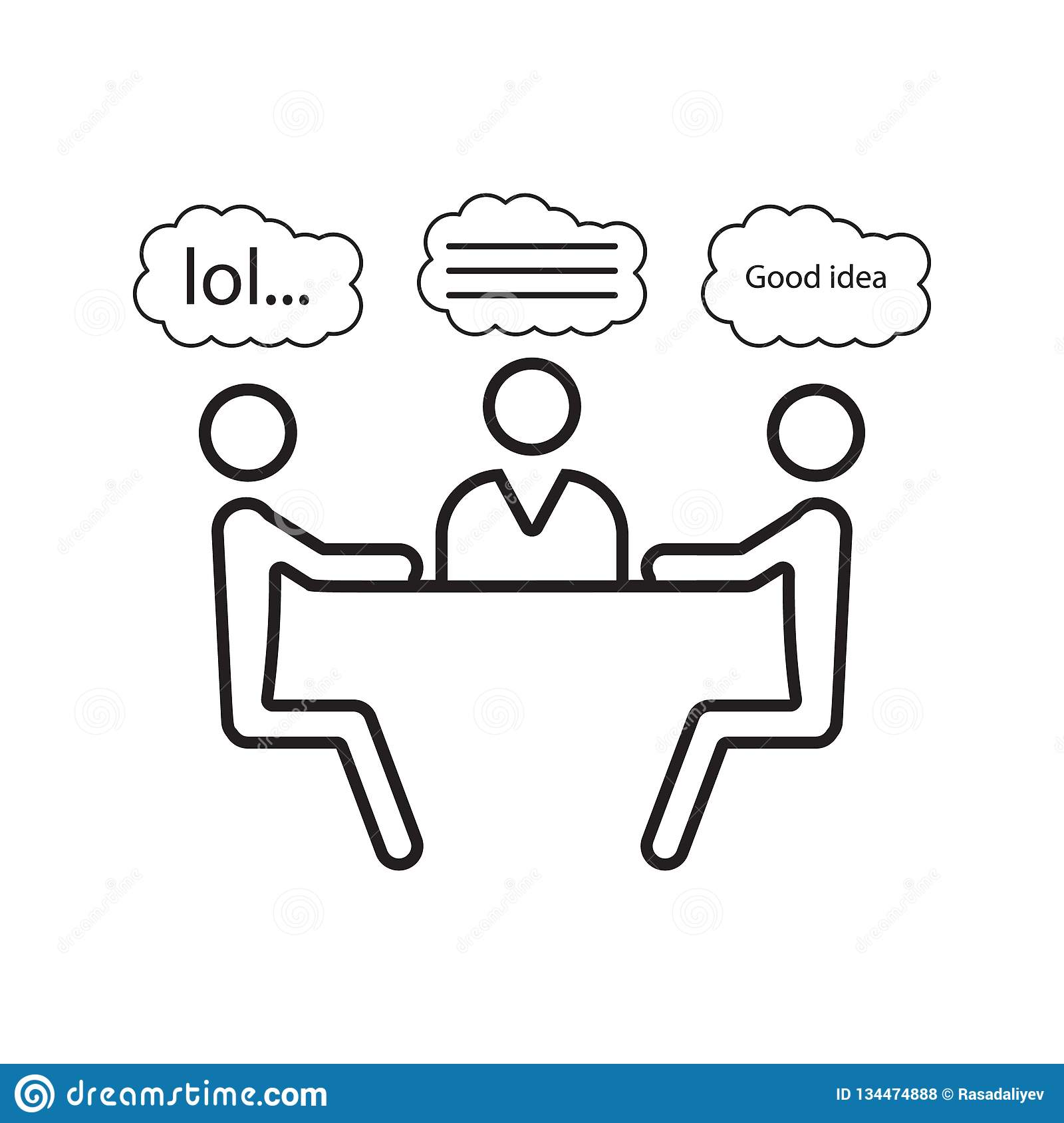 Jokes At The Table Icon  Element Of Cyber Security For