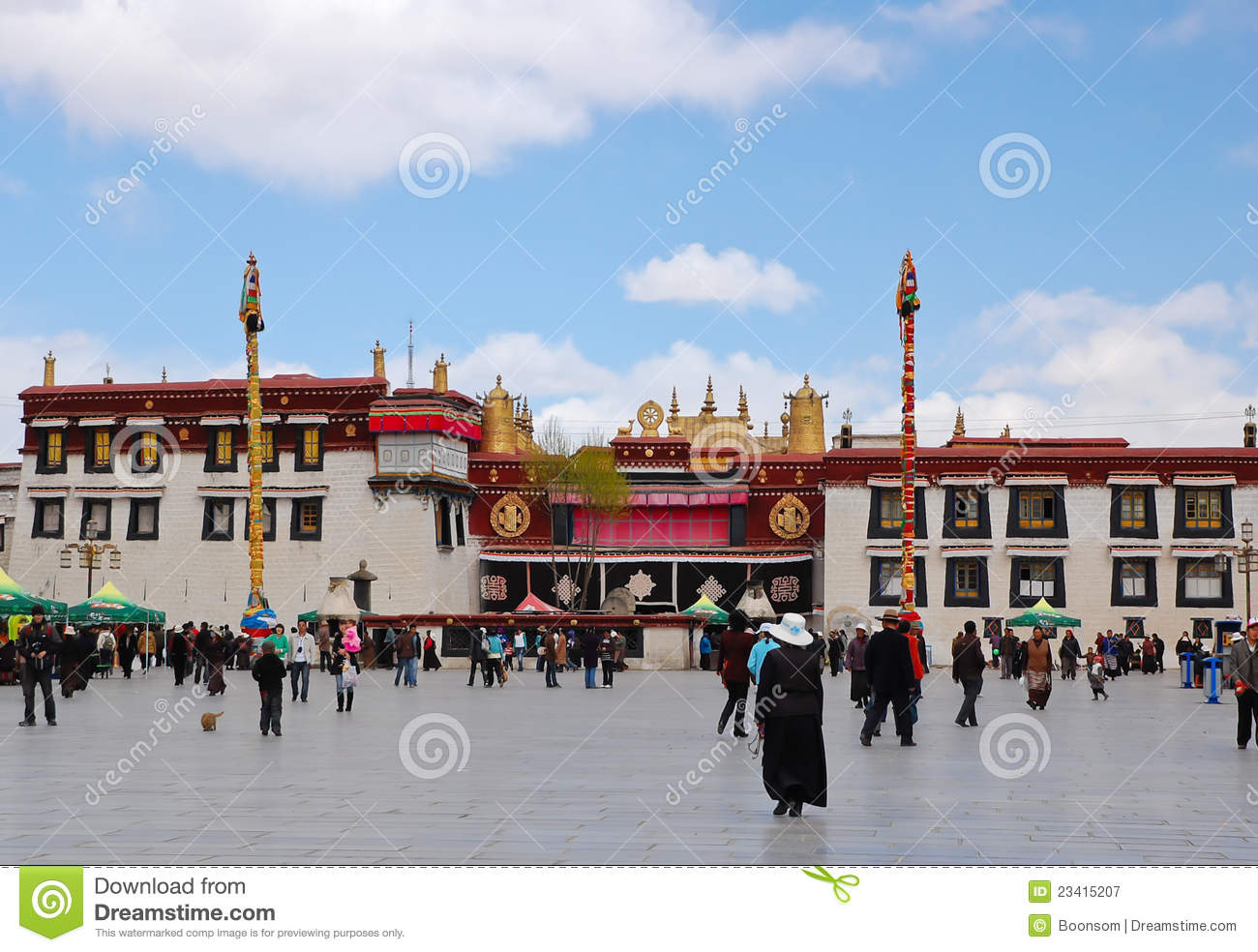 Jokhang temple in Lhasa, Tibet. It