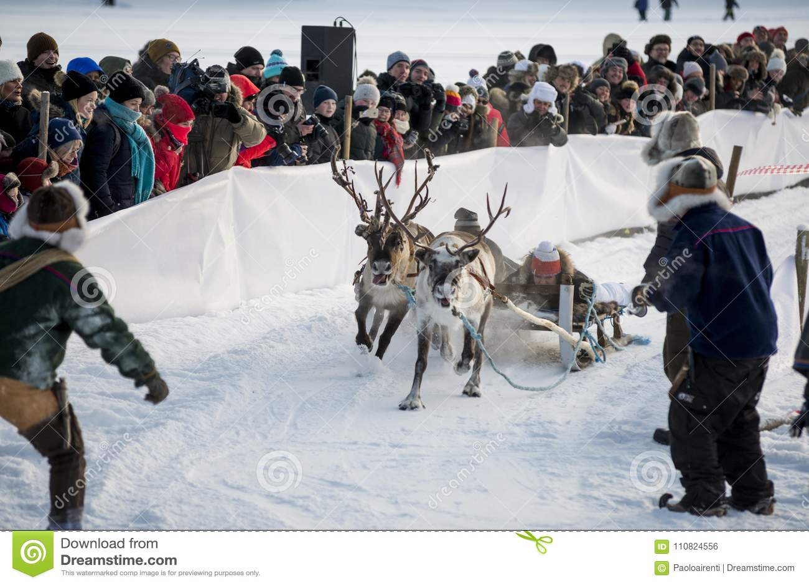 Download Winter In Lapland, Sweden, Norrbotten Editorial Photo - Image of snow, winter: 110824556