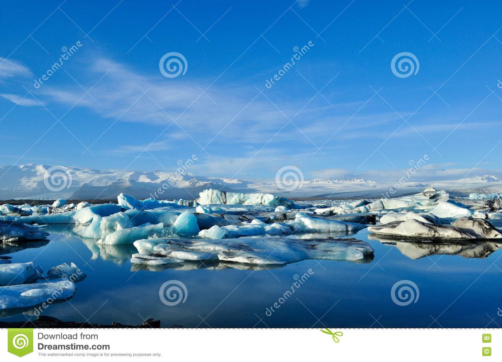 Jokulsarlon lodowa laguna w Iceland