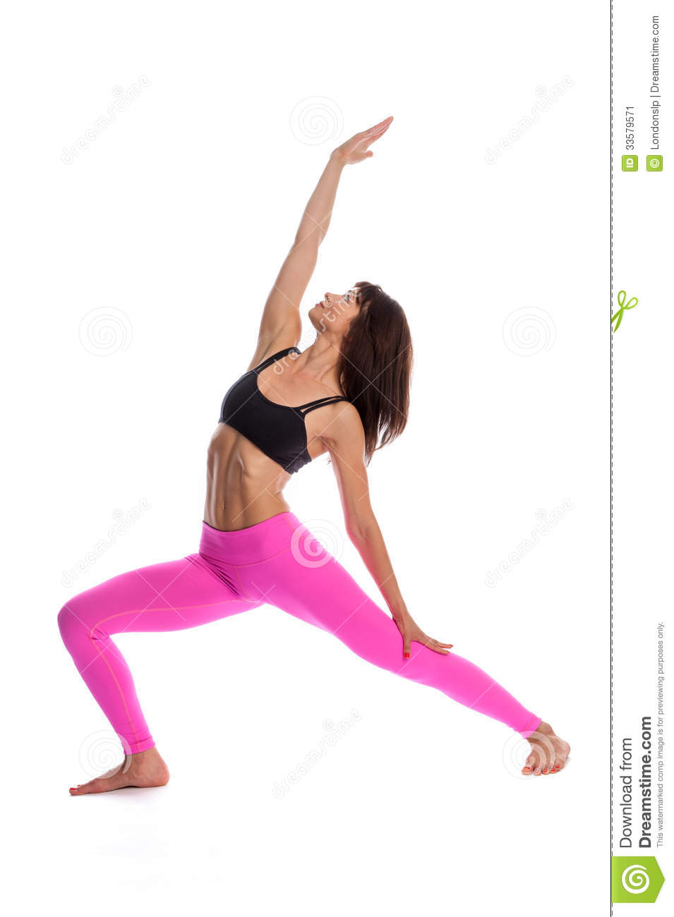 jolie femme dans la pose de yoga position inverse de guerrier image stock image 33579571. Black Bedroom Furniture Sets. Home Design Ideas