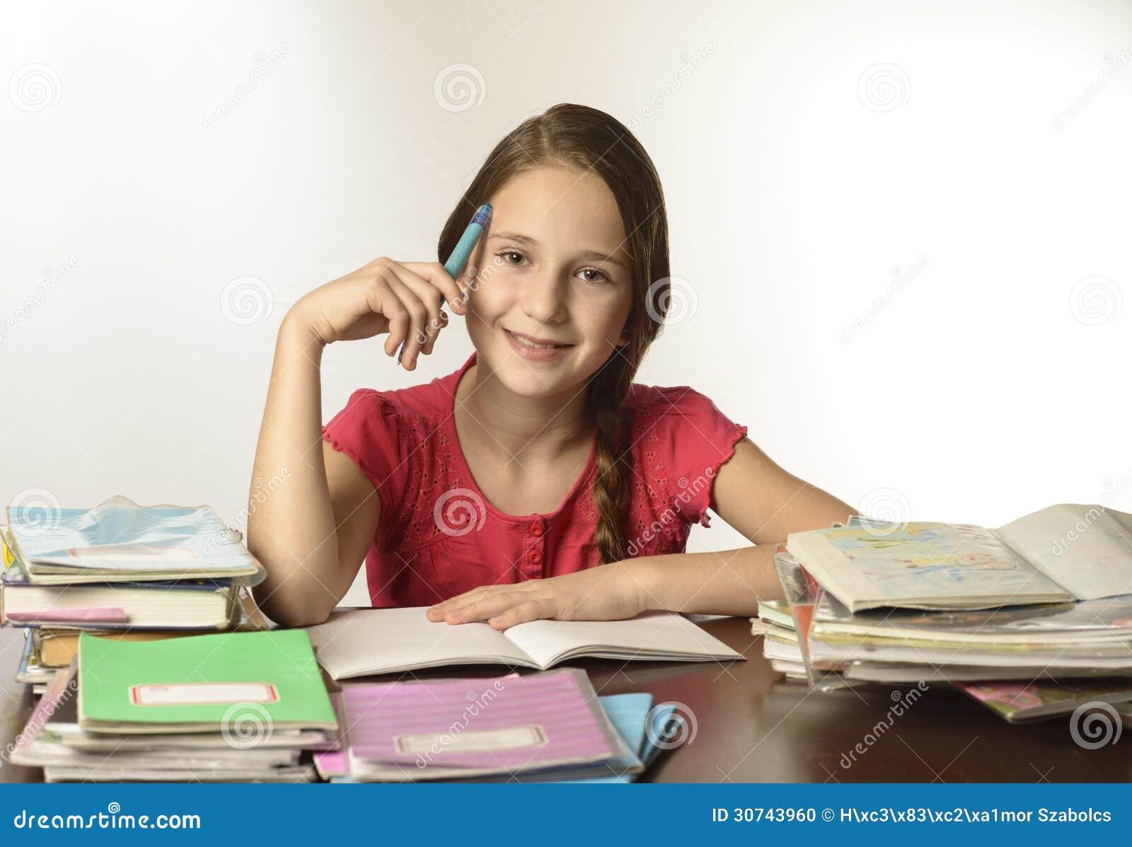 Jolie fille d école