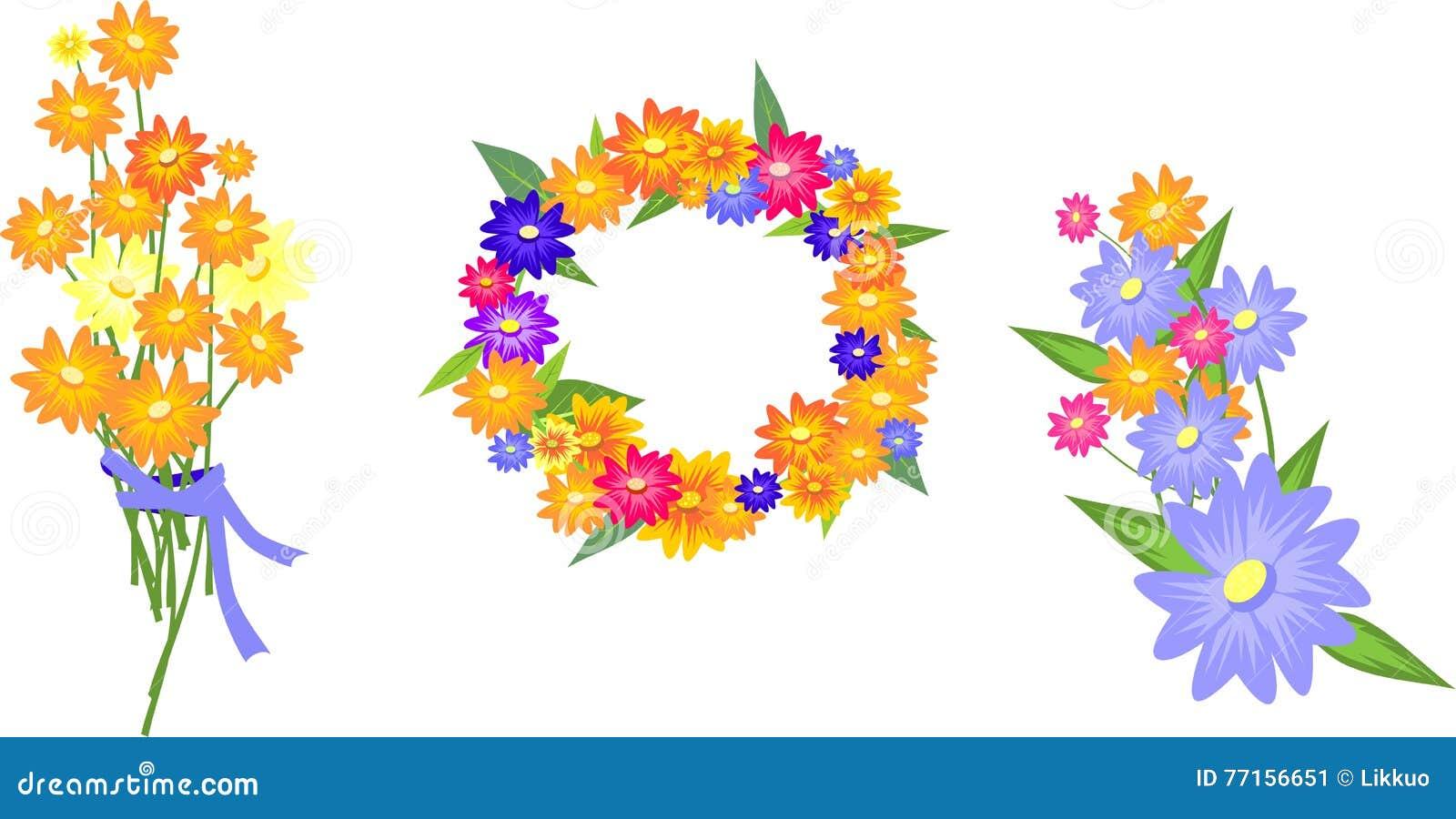 Jolie illustration avec des fleurs