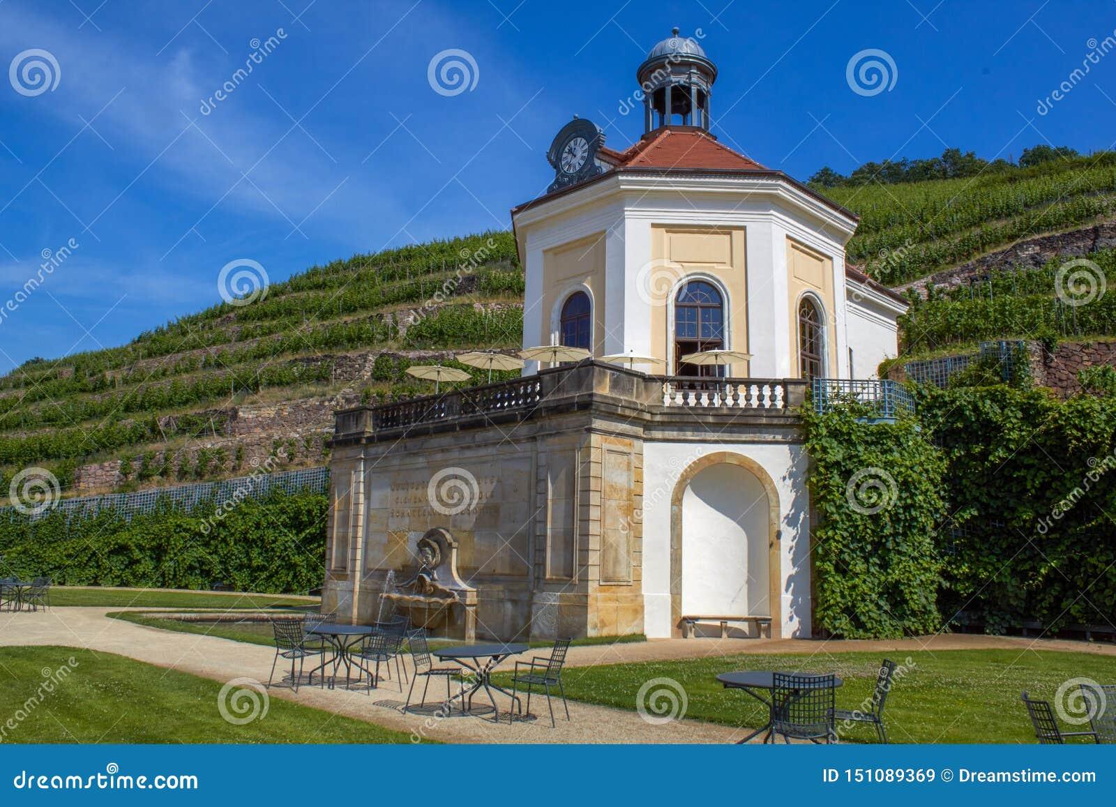 Jolie petite chapelle dans les vignobles de Saxon