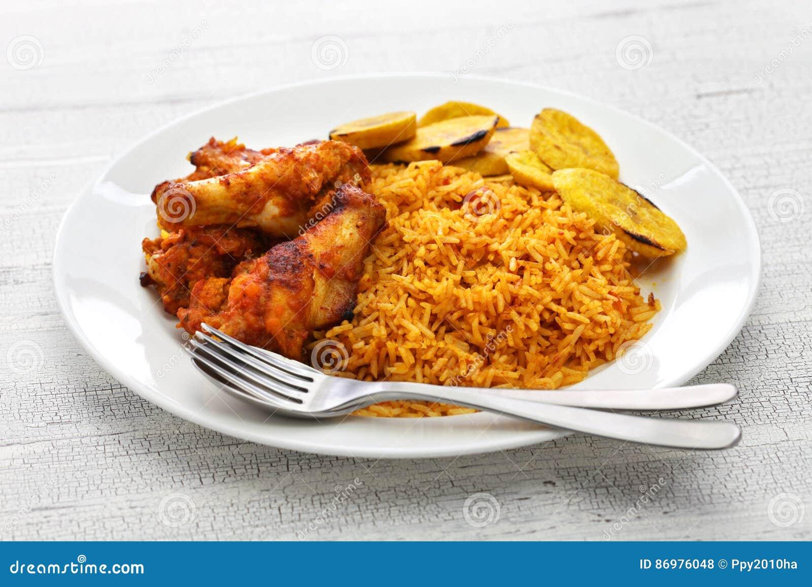 Jollof米,西非烹调