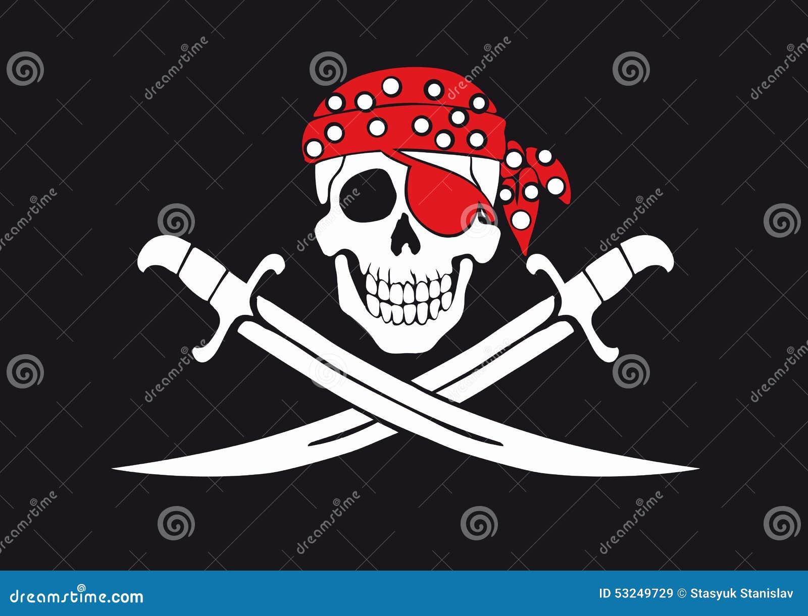Jolly pirat Roger bandery