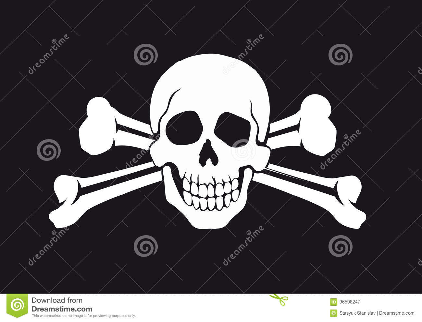 Jolly Roger Flag Stock Vector Illustration Of Caribbean 96598247