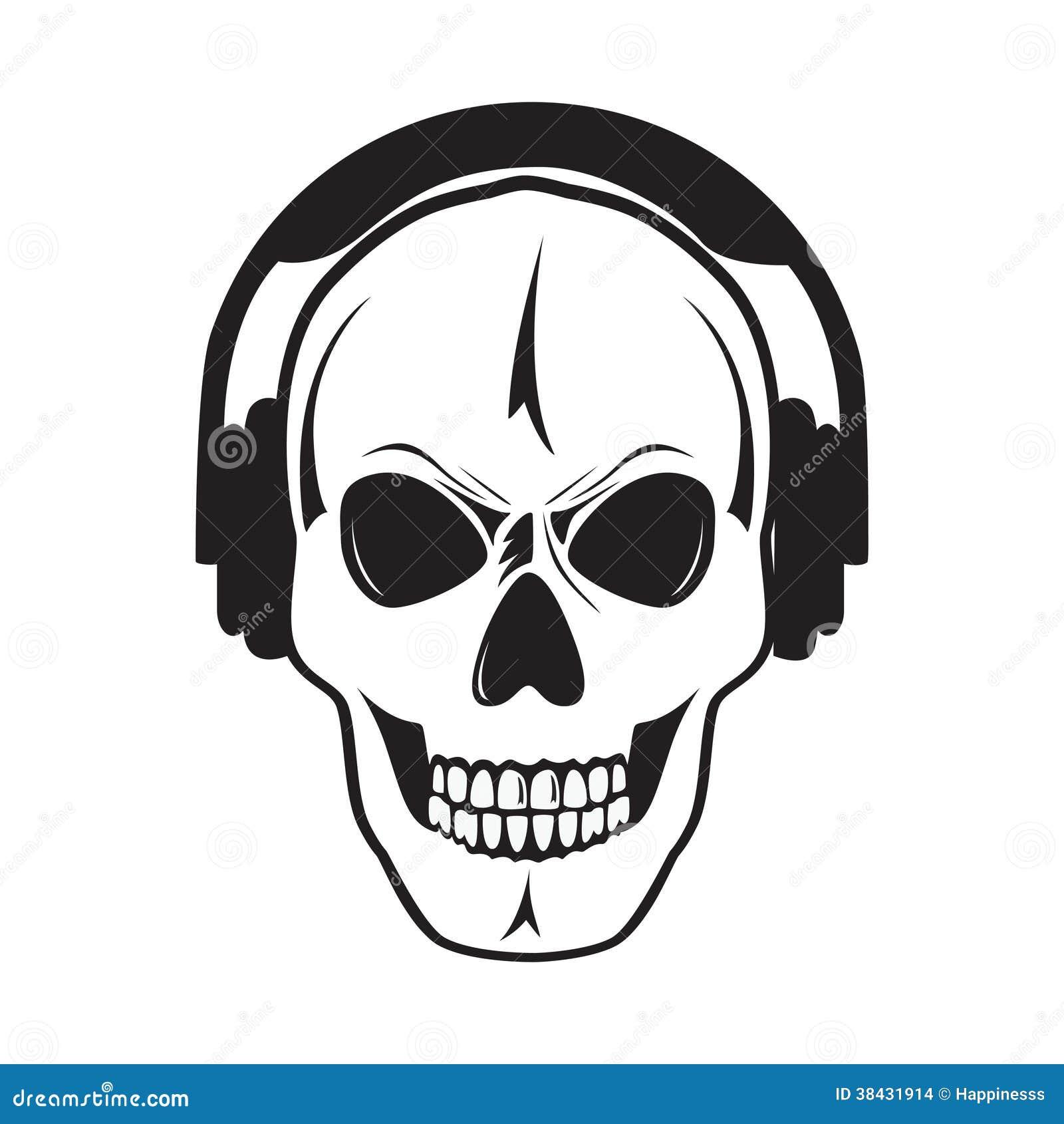 197d54fee05 Jolly Skull With Headphones. Isolated Object.? Stock Vector ...