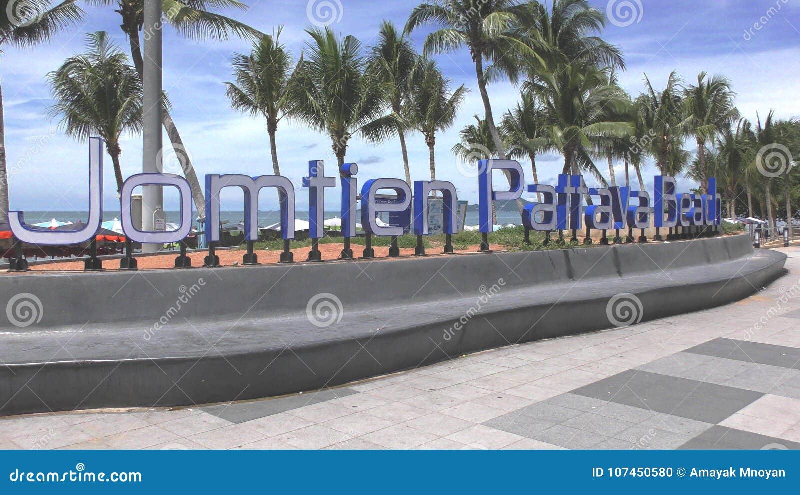 Jomtien-Strand Pattaya Beginn Neues Zeichen