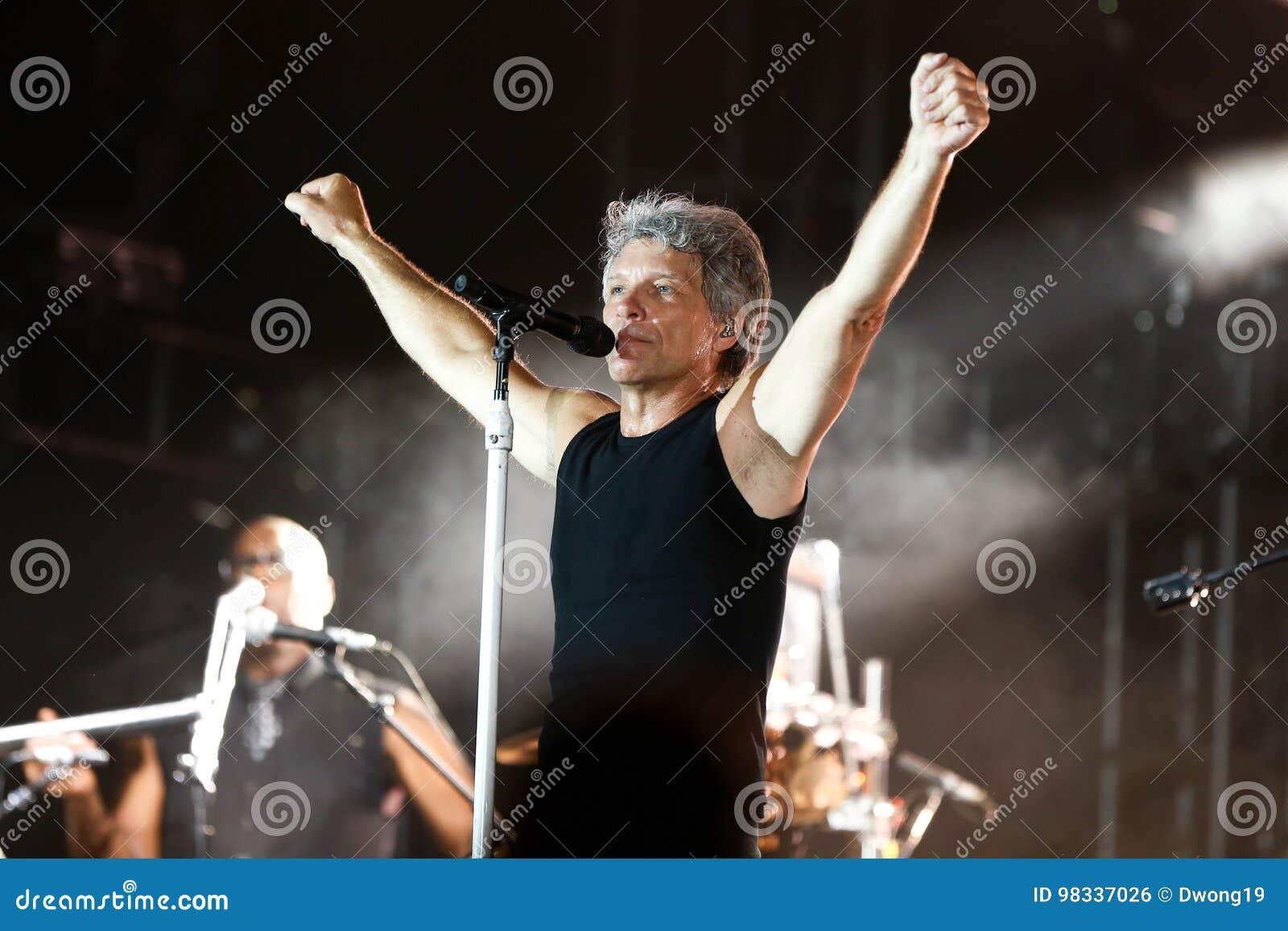 Jon Bon Jovi editorial photo. Image of band, music ...