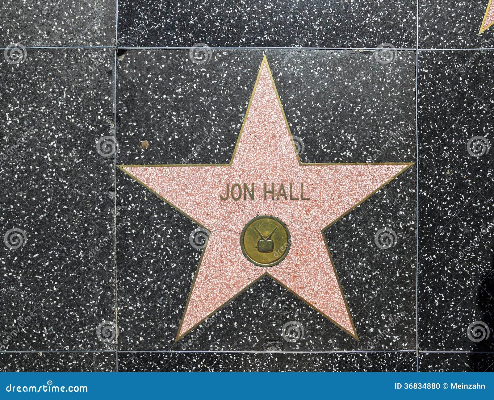 Jon Hall S Star On Hollywood Walk Editorial Image Image