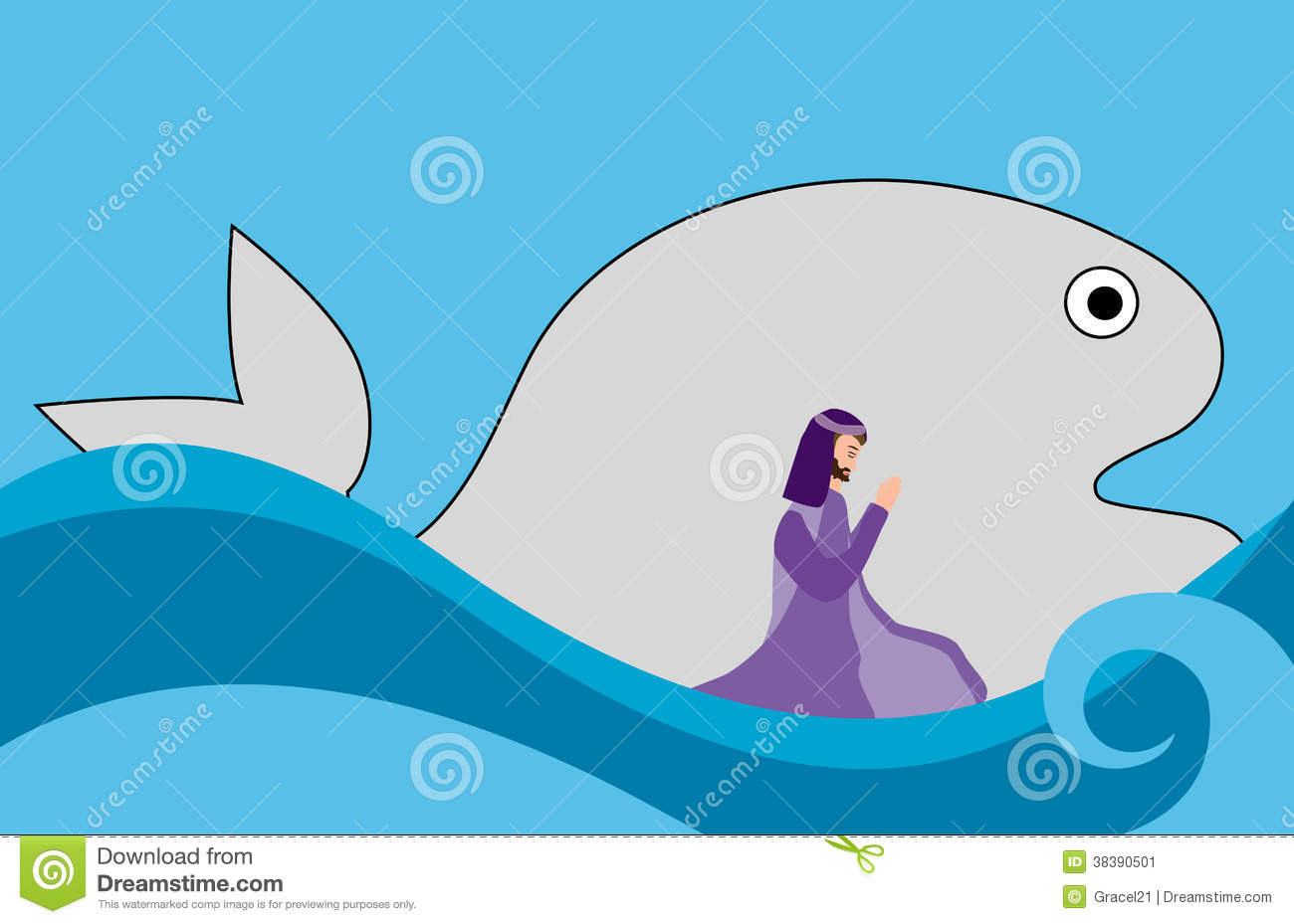 Jonah And Fish Stock Image - Image: 38390501