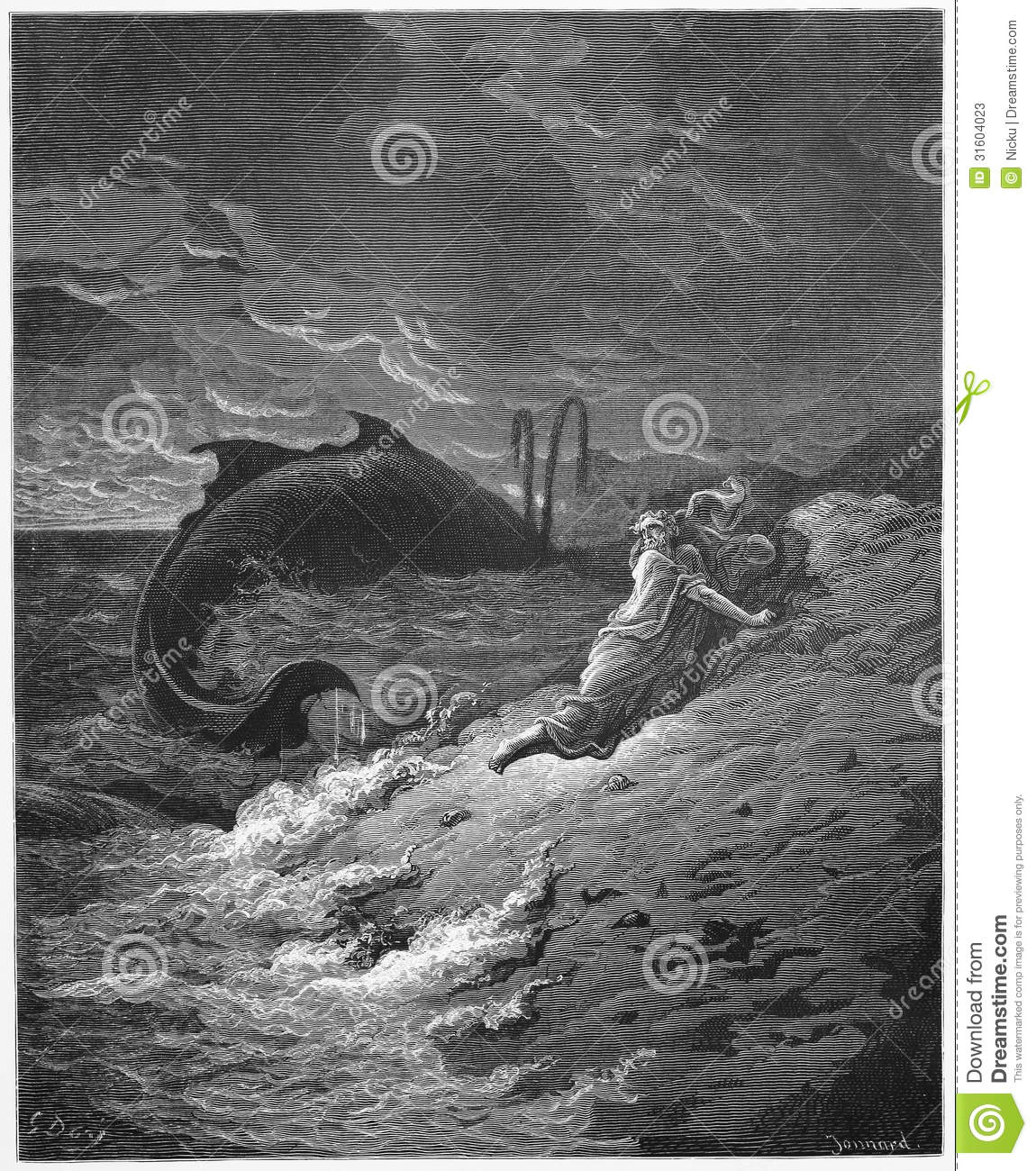 Jonah And The Whale Editorial Stock Photo Image Of Sketch