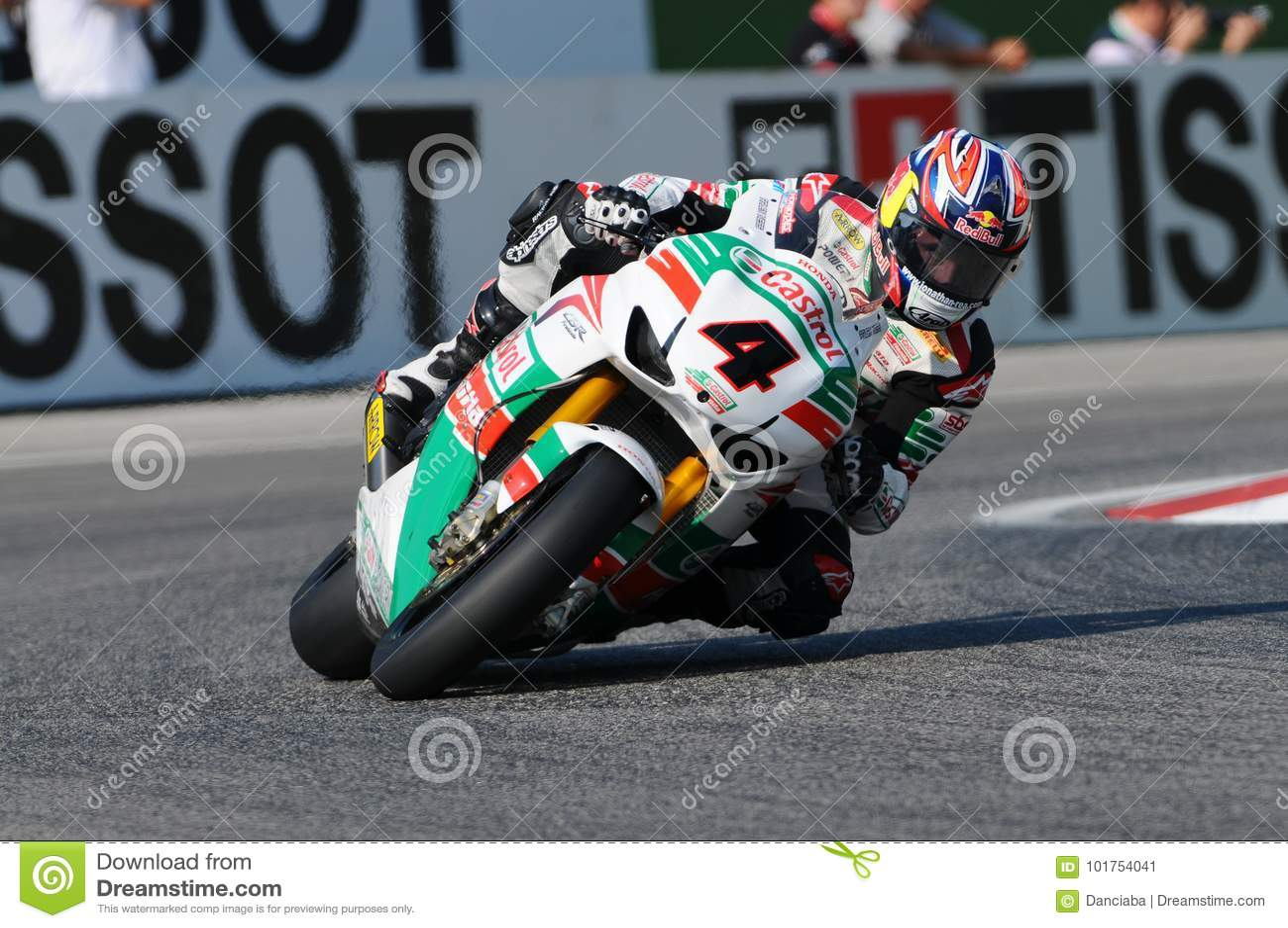 Jonathan Rea GBR Honda CBR1000RR Castrol Honda i handling under Superbikeövningen i Imola Circuit