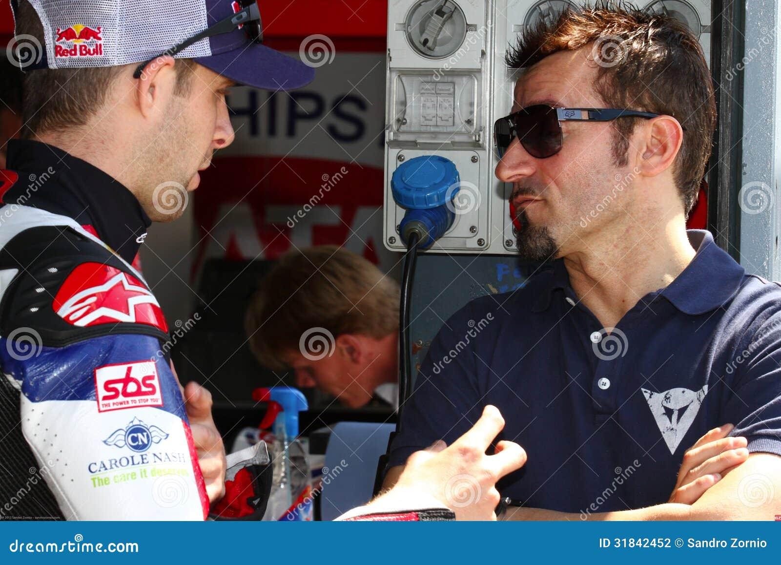 Jonathan Rea #65 and Max Biaggi
